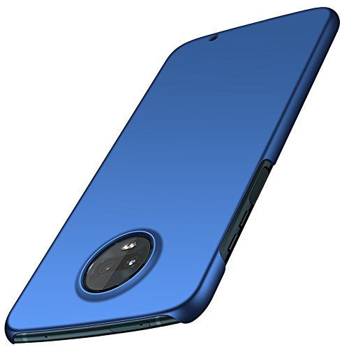 ORNARTO Moto Z3 Play Hülle,Z3 Hülle, Ultra Dünn Schlank Stoßfest, Anti-Scratch FeinMatt Einfach Handyhülle Abdeckung Stoßstange Hardcase für Motorola Z3/Z3 Play(2018) 6.0' Blau