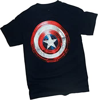 Technical Shield -- Captain America: The Winter Soldier Movie T-Shirt, Small