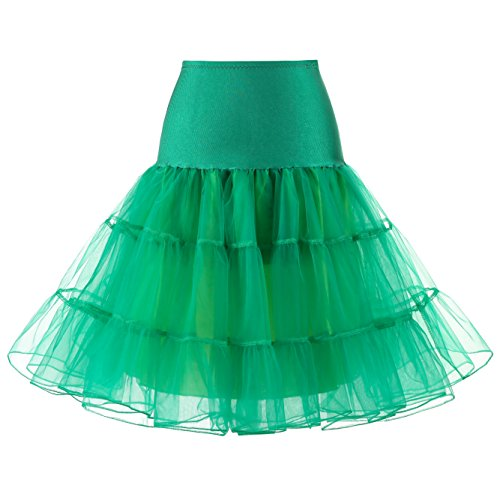 More May Women's 50s Vintage Petticoat Crinoline Tutu (Tutu Grün Womens)