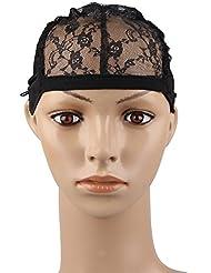 Beauty7 Wig Cap Cap de Perruque Chapeau pour Extension de Cheveux Lace Filet A Cheveux Chapeaux Bonnet Perruque Deguisement DIY