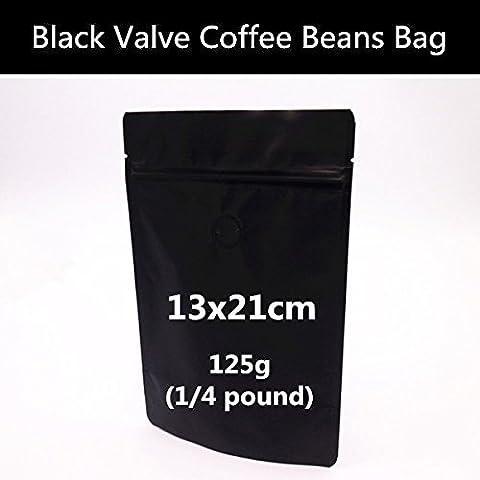 Generic 50pcs/lot 13cm*21cm Noir mat Foil Valve Sac à fermeture