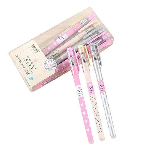 YA-Uzeun Lot de 12 stylos à bille effaçables à encre bleue...