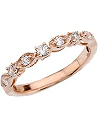 10 ct Rose Gold Engagement/Anniversary Band With Cubic Zirconia