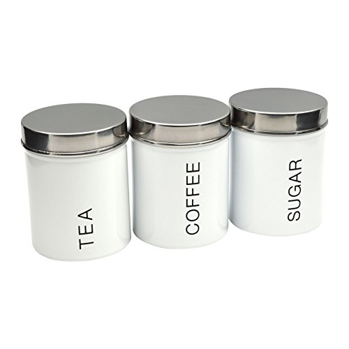 White Kitchen Canister Sets Amazon