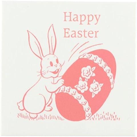3dRose cst_174214_3 immagine di coniglietto, motivo pasquale con uova di piastrelle di ceramica-Set di 4 sottobicchieri - Immagini Di Piastrella