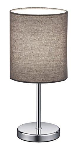 Reality Leuchten Lámpara de Mesa E14, 40 W, gris, 13 x 13 x 28.5 cm
