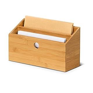Schreibtisch-Organizer Briefablage SAMSON aus Bambus Dokumentenhalter Briefständer, 27x10x15 cm (L/B/H)