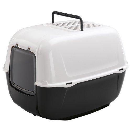Ferplast Katzentoilette Prima mit Haube | Hochwertige Haubentoilette aus Kunststoff mit Tragegriff und Aktivkohlefilter zur Geruchsbekämpfung | Maße: 52,5 x 39,5 x 38 cm