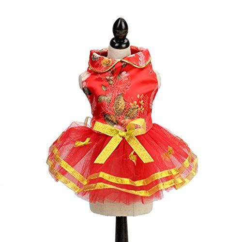 Hunderock Hochzeit Rost Anzug Festliche Tang Anzug Kleine Mode Niedlichen Kleinen Hund Kostüm (Size : S) ()