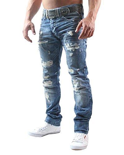 Redbridge Herren Straight Leg Jeans RB-157, Gr. W30/L32, Blau (Standard 180) -