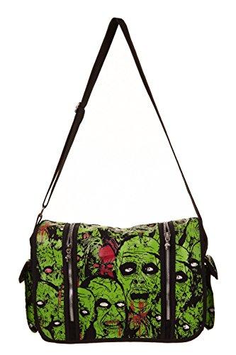 Banned My Generation Bag - Green/Black / One Size (Pinup Messenger Bag)