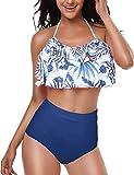 UMIPUBO Bikini Donna/Ragazza Balze Adorabile Costumi da Mare Due Pezzi Costumi da Bagno Vita Alta Bikini Genitore-Figlio Beachwear Swimwear