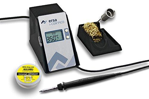 ERSA i-CON pico digitale elektronische Lötstation 80W inkl. 1m Lötdraht regelbar 150 – 450 °C + Zubehör