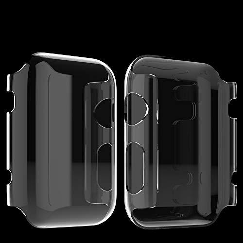 Apple Watch Series 2 Hülle, Misxi Apple Watch Case Hard PC iwatch Schutzfolie All-around Schutzhülle 0.3mm Ultra-Slim Schutz für i Watch 2 (42mm-2Packung)