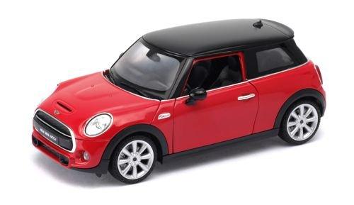 Welly 24058 Mini Cooper S (Hatch) rot/schwarz Maßstab 1:24 Modellauto