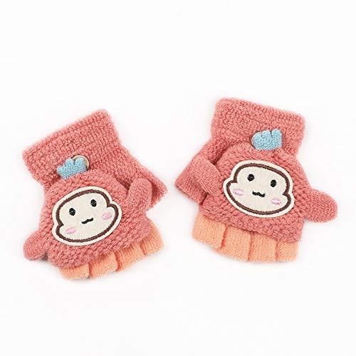 Arbre Arbre Babyhandschuhe, zum Aufklappen, Halbfinger, warme Fäustlinge, Fingerlose Handschuhe, rosa Rose 9.2x6cm