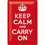 Nostalgic-Art 22187 United Kingdom - Keep Calm and Carry