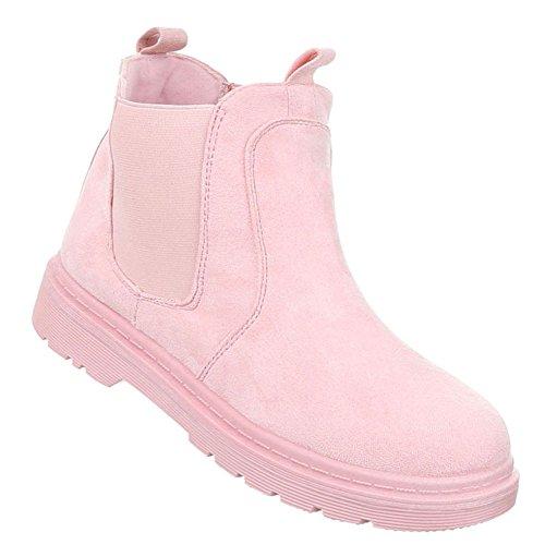 Elegante Stiefelette | Outdoor Stiefelette Blockabsatz | Chelsea Boots | Reißverschluss Stiefel | Ankle Boots | Damenschuhe Stiefeletten | Schuhcity24 | Rosa 37 (Gehen Gehen Team Kostüm)