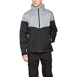 Columbia Inner Limits Jacket Chaqueta Impermeable, Poliéster, Hombre, Negro (Black/Grey Ash), Talla L