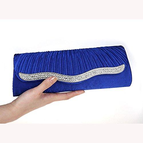 Il Bag Frizione Moda Nuovo Vestito Piega Pacchetto Cristallo Borsa AnvrqA