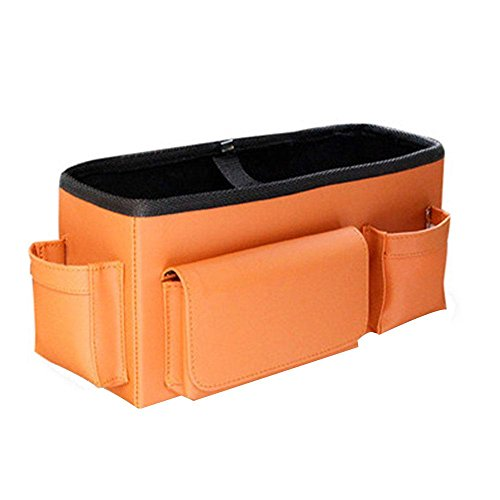 Preisvergleich Produktbild Auto-Sitz-Rückseiten-Organisator-Leder-hängende Aufbewahrungsbeutel-Auto-Wagen-Rucksackauto liefert , orange