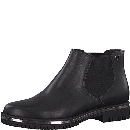 Tamaris Damen Chelsea Boots 25496-31,Frauen Stiefel,Halbstiefel,Stiefelette,Bootie,Schlupfstiefel,flach,Blockabsatz 3.5cm,Black,EU 40