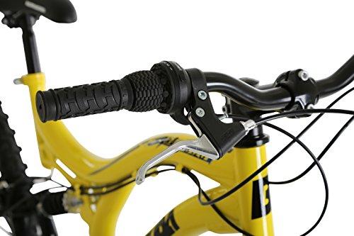 41SgNIQblOL - Barracuda Unisex Draco Ds Wheel 18 Inch Full Suspension Frame Mountain Bike, Yellow, 26