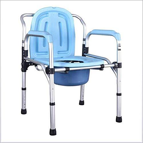 TWL LTD-Wheelchairs Bettkommoden Höhenverstellbar Bad Dusche Toilettensitz Medizinische Hilfe Reha Stuhl Ältere & Amp; Handicap Verwendung Als Alleinstehendes Gerät Oder mit Toilettenstuhl