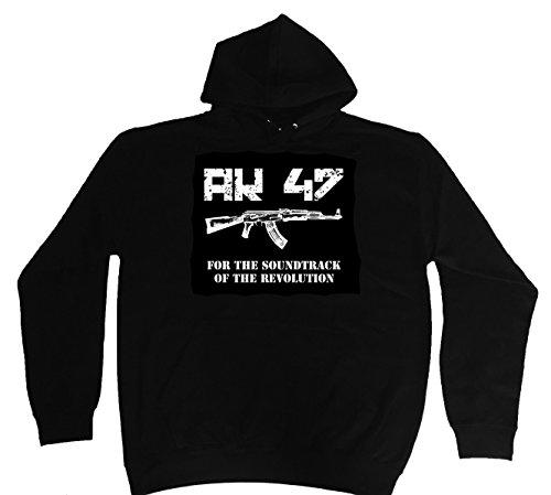 """'Hoodie-Felpa con cappuccio """"AK 47M-5X L nero XXXXL"""