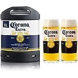 Pack 1 fût 6L de Corona + 2 verres Corona offerts - 5 euros de consigne inclus