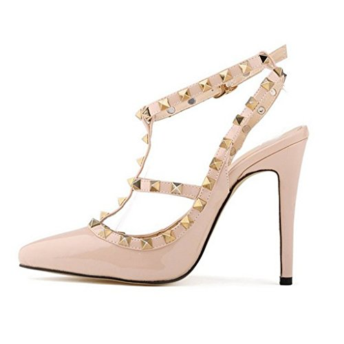 Footful Sexy Ladies Pointy Toe Slingback High Heel Spike Studded...