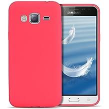 Funda Galaxy J3 2016 / J310 , SpiritSun Soft TPU Silicona Handy Candy Carcasa Funda para Samsung Galaxy J3 2016 / J310 (5.0 Pulgadas) Suave Silicona Piel Carcasa Ultra Delgado y Ligero Goma Flexible Phone Case Cover - Rojo