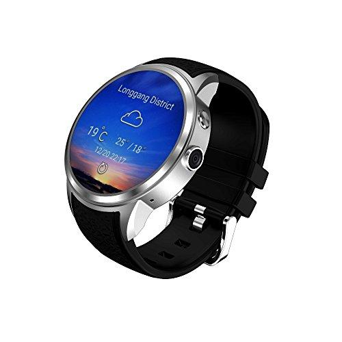 HKPLDE 3G Smartwatch / 1.39 Zoll AMOLED Touchscreen / 8GB Rom/mit Kamera GPS SMS für Frauen und Männer Fitness Armband Aktivitätstracker-Silber