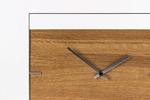 Home Eiche Design Ein (Frame - Design Wanduhr aus Edelstahl & Eiche, minimalistisch)