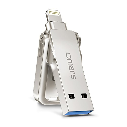 Omars chiavetta usb iphone ipad 128gb [mfi certifacato], flash drive iphone per dispositivi ios/mac/pc