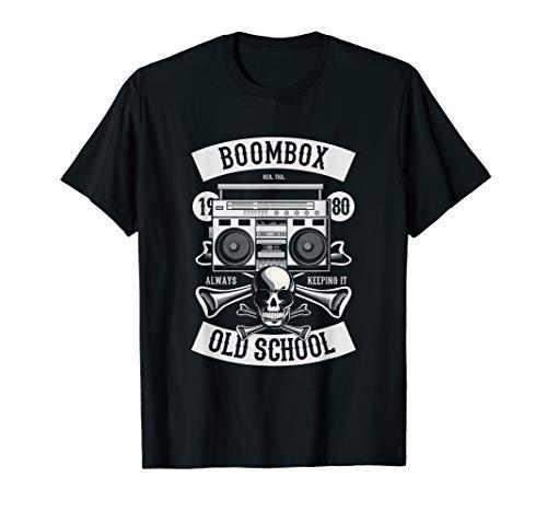 90er Party Outfit T-Shirt Kostüm Rap Tshirt Totenkopf (Old School Rap Kostüme)
