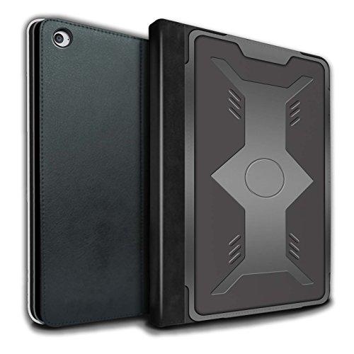 Stuff4® PU-Leder Hülle/Case/Brieftasche für Apple iPad Air 2 Tablet/Schild Muster/Rüstung Kollektion
