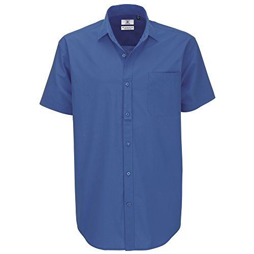 B&C Collection Heritage short sleeve /men Blue Chip