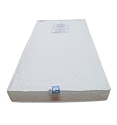 KATY® Cotbed Mattress Package - Includes: KATY® Superior Deluxe FULLY BOUND With **TAPED EDGED** Sprung Cot Bed Or Junior Bed Spring Mattress 140x70 x 10cm Thick PLUS LUXURY SPARE COVER : Both Are British Made