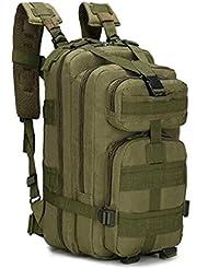 Macutos de senderismo,Mochila de trekking, Mochila militar 25L MOLLE Paquete de asalto Mochila