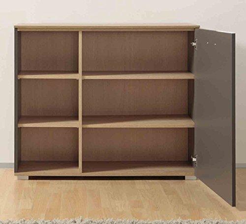 Kommode, Sideboard, Anrichte, Highboard, Flurkommode, Schubladenkommode, Softclose, Stone-Oak, grau - 2