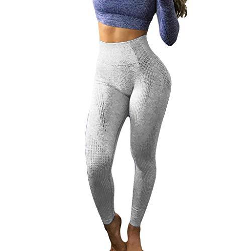 Frauen Leggings Running Kurze Yoga Hosen Hüfte Nahtlose Jacquard Punkt hohe Taillen Geschwindigkeits trockene Eignungs Damen Shorts Sports Hose Tights Sport - Laufshorts Fitness (Grau.M) (Spartan Kostüm Jungen)