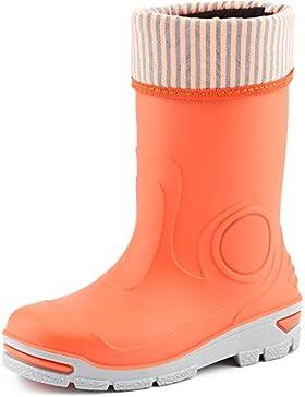 Ladeheid Botas de Agua Goma con un Calcetín Interno Cálido Zapatos de Seguridad Unisex Niños LARB013