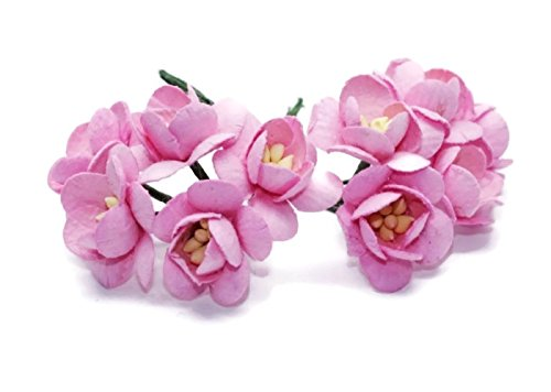 50 pink Mulberry Papier Cherry Blossom Blume Handmade Wedding 2.0 CM
