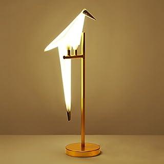 WYZ Kreative Lampe Wohnzimmer Schreibtisch Schlafzimmer LED Tischlampe Kunst 1000 Papier Kran Vogel Licht Lampenentwurf (Farbe : Gold)