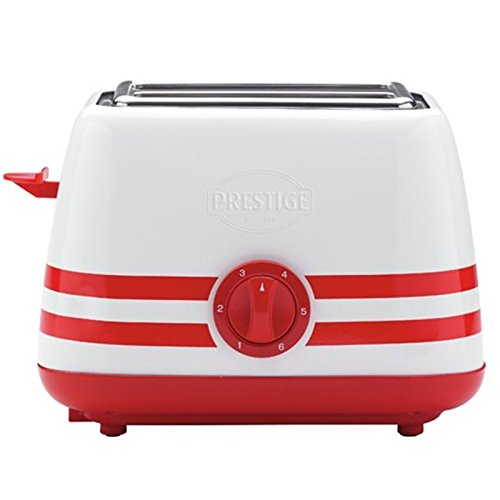 Prestige Retro Stripe Red Electric Hot Water Kettle Jug And 2 Slice Toaster Set