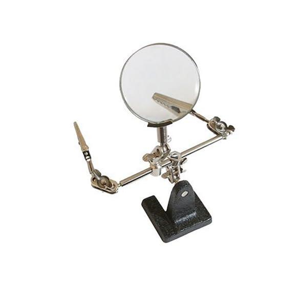 Silverline Tools 633830 Lupa con pinzas, plateado, 63 mm 2,5x