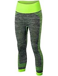 La Sra formación pantalones de yoga deportivas mantienen sección corta ajustados pantalones elásticos de secado rápido 7 5081 , green , m