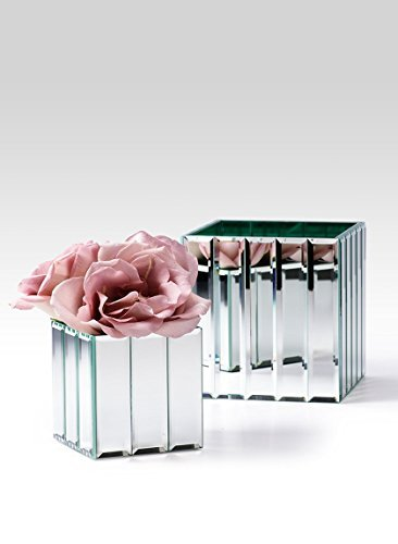 Serene Spaces Living Gatsby Mirror Strip Cube Vase for sale  Delivered anywhere in UK