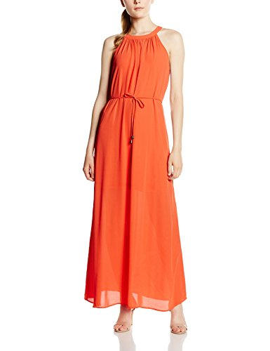 Only Onltoledo S/L Maxi Dress Wvn, Vestito Donna Arancione (Paprika)